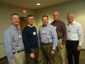 From left: Chip Blalock, David Zimmerman, Matt Jungmann, Dennis Alford & Chuck Gamble (Photo courtesy of Agri Marketing Magazine)