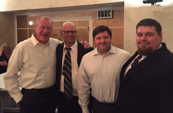 (L-to-R) Jim Cummings,  Ed Rausch, SISCO, Jeremy Kremski, C&B Sales Manager and Tom Peterman, Ford.